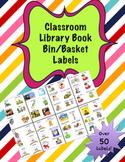 Classroom Library Book Bin/Basket Labels