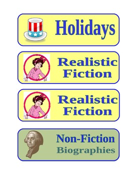Classroom Library Book Bins Labels by Genre