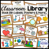 Classroom Library Book Bin Labels, Posters and More..