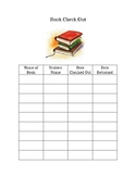 Classroom Library Book Check Out Chart