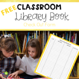 Classroom Library Book Check Out Form