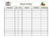 Classroom Library Book Check Out Sheet