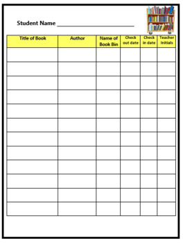 Classroom Library Book Checkout Form (English & Spanish - Editable)