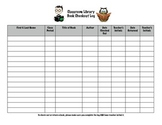 Classroom Library Book Checkout Log