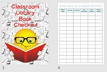 Classroom Library Books Checkout | Printable Booklet