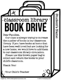 Classroom Library Book Drive Parent Letter