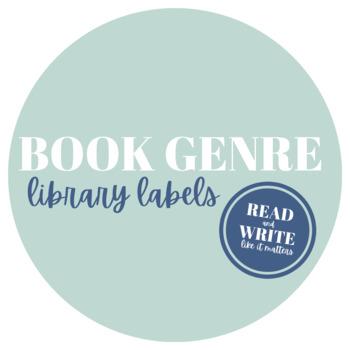 Classroom Library Book Genre Labels