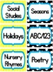 Classroom Library Book Labels - Chevron & Polka Dot Theme