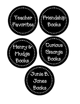 Classroom Library Book Labels