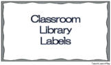 Classroom Library/Book Labels