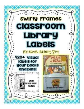 Classroom Library Book Labels - 420+ Swirly Frame Bin & Book Labels