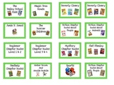 Classroom Library Book Labels Blue & Green Polka Dots