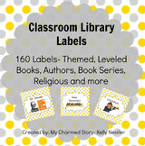 Classroom Library Book Bin Labels {Gray & Yellow Series}