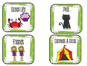 Classroom Library Book Labels-Polka Dot