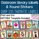 Classroom Library Labels Book Bin Labels Round Stickers Chevron