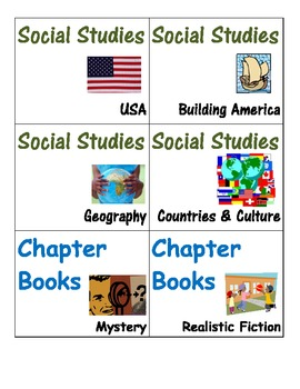 Classroom Library Book Labels -genre/theme