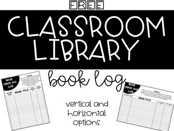 Classroom Library Book Log