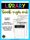 Classroom Library Book Sign Out Sheet
