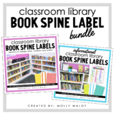 Classroom Library Book Spine Label Bundle