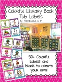 Classroom Library Book Tub Labels (Colorful)