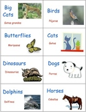 Classroom Library Book and Box Labels ANIMALS SET