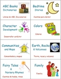 Classroom Library Book and Box Labels THEMES SET 1