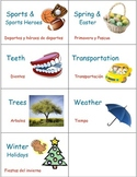 Classroom Library Book and Box Labels   THEMES SET 3