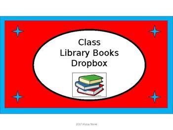 Classroom Library Books Dropbox Crate Label - Dr.SeussTributeColorswithClipart