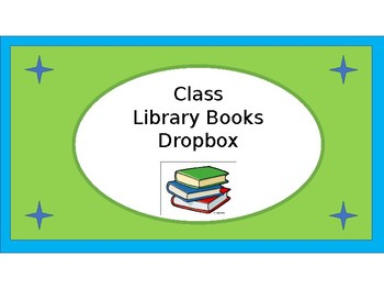 Classroom Library Books Dropbox Crate Label - Lime & Teal - with Clipart