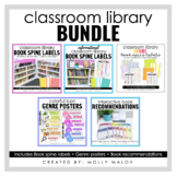 Classroom Library Bundle   Book Spine Labels and Bulletin