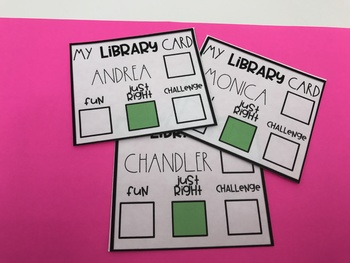 Classroom Library Cards