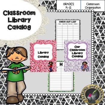 Classroom Library Catalog Organizer