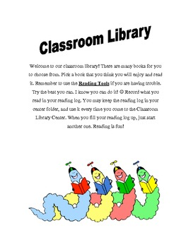 Classroom Library Center Packet