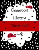 Classroom Library Check Out Binder Cover and Log