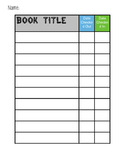 Classroom Library Check-Out Form (Camping Theme)