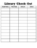 Classroom Library Check-Out Sheet