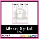 Classroom Library Check Out Sheet - FREEBIE!