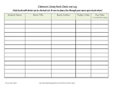 Classroom Library Check-out Log