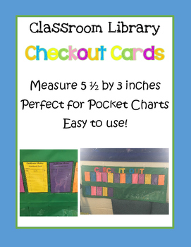 Classroom Library Checkout Card