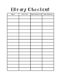 Classroom Library Checkout Form