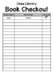 Classroom Library Checkout List