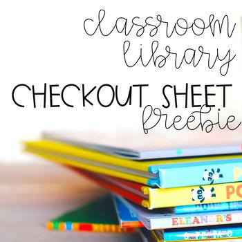 Classroom Library Checkout Sheet
