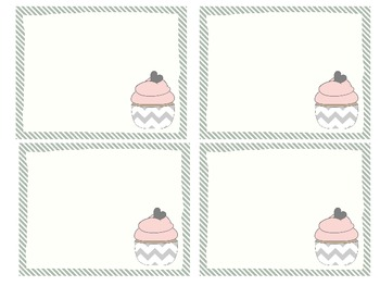 Classroom Library Cupcake Labels