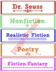 Classroom Library: Decorative Labels for Book Bins!