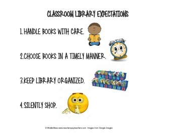 Classroom Library Expectations Anchor