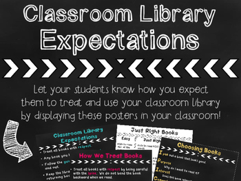 Classroom Library Expectations Posters
