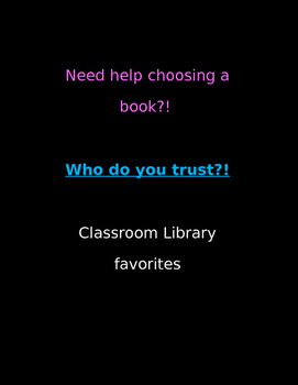 Classroom Library Favorites