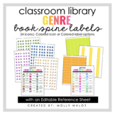 Classroom Library Genre Book Spine Labels