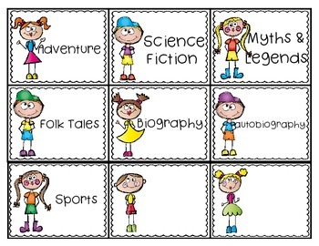 Classroom Library Genre Labels!