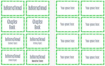 Classroom Library Genre Labels